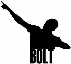 Usain Bolt Pose Silhouette