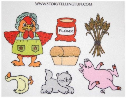 Use clip art to make a Little Red Hen Felt story - great idea!