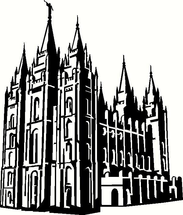 Utah Salt Lake City Temple 2 Vinyl Decal-Utah Salt Lake City Temple 2 Vinyl Decal Lds Temples Vinyl Decals-18