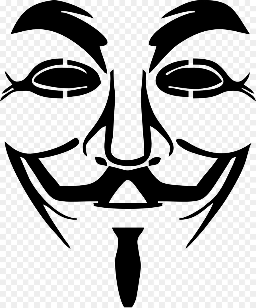 Anonymous Guy Fawkes mask Clip art - v for vendetta