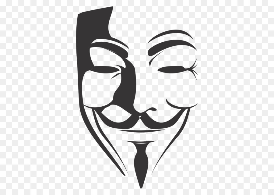V for Vendetta Clip art - anonymous mask