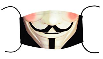 V for Vendetta Earloop Face Mask For Outdoor/Winter/Christmas/Party