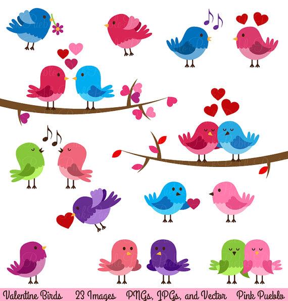 Valentine Birds Clipart Clip .