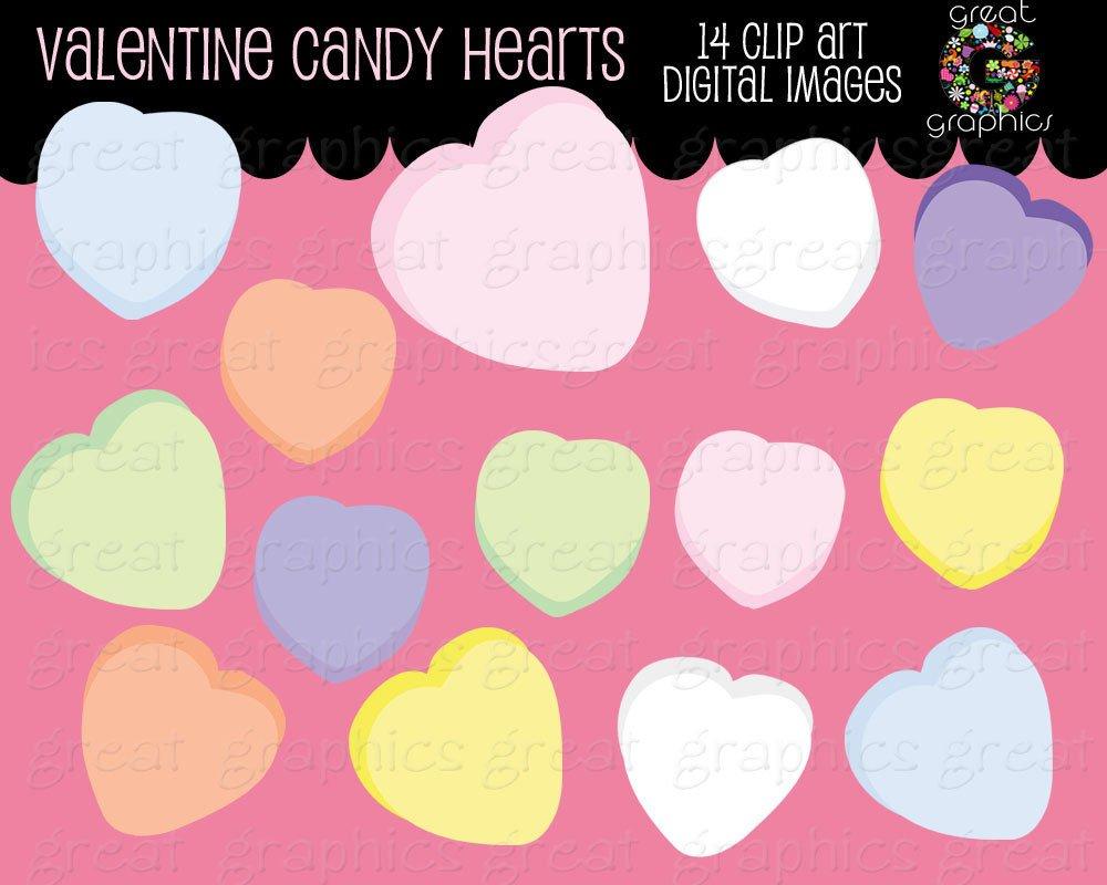 Valentine Clip Art Valentine Candy Heart Clipart Valentines Candy Clip Art Digital Valentine Clip Art Instant