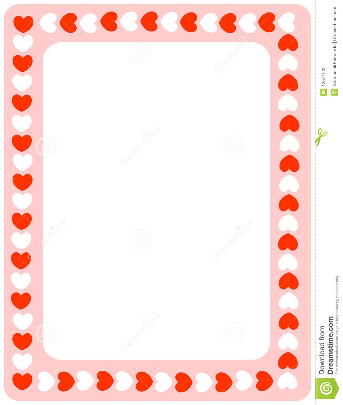 Valentine Heart Border Clipart Red Hearts Valentines Day