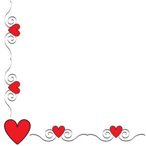 Valentine Hearts Border Clip  - Valentines Day Borders Clip Art