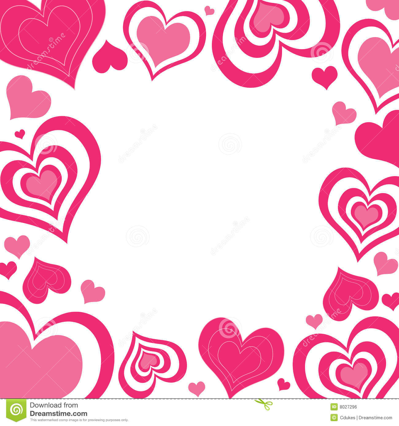 Valentine Hearts Border Royalty Free Stock Image Image 8027296