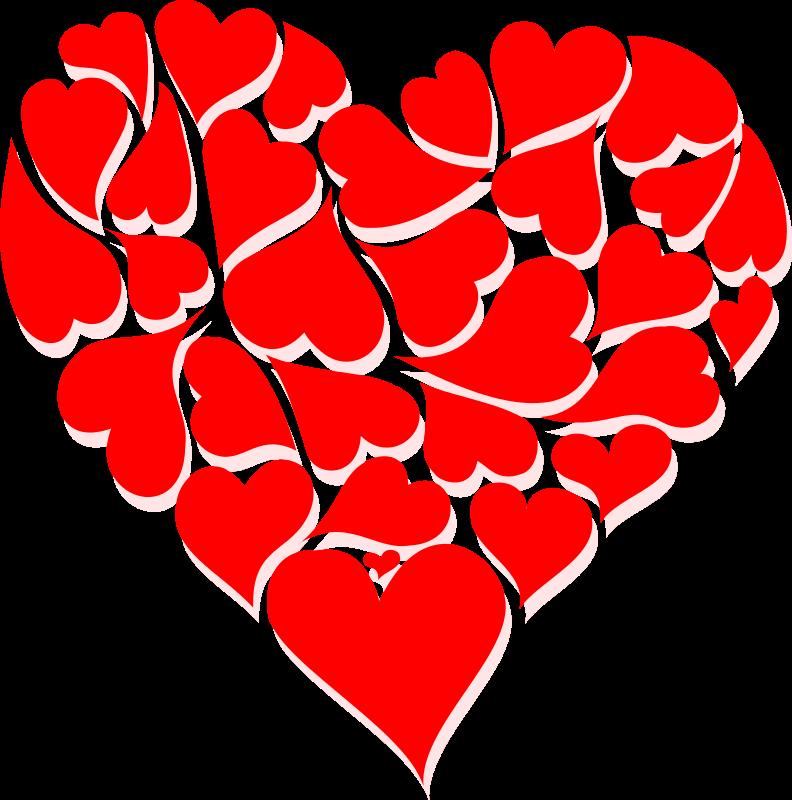 Valentine hearts clip art val - Free Heart Clipart