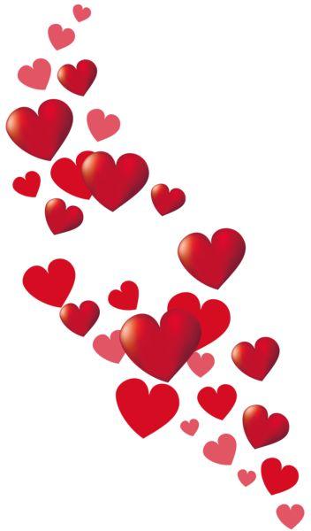 Valentine Hearts Decor PNG Clipart Picture
