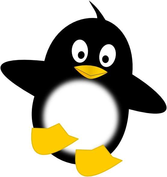 Valentine penguin clipart .