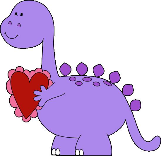 Valentineu0027s Day Dinosaur Clip Art
