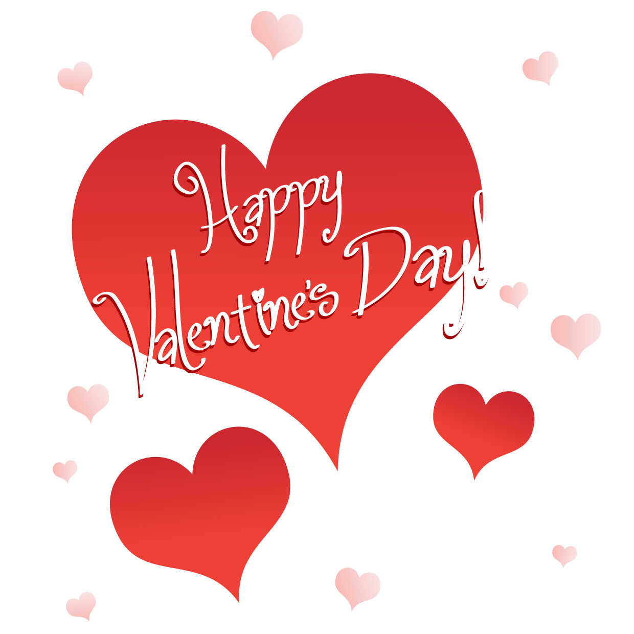Valentine S Day Happy Valentine S Day Clipart Hearts Red Pink