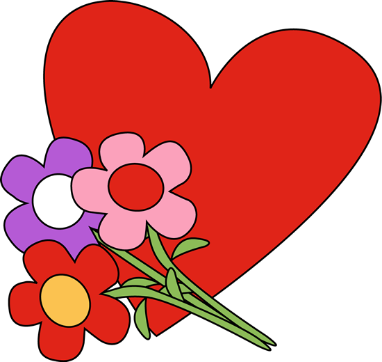 Valentineu0027s Day Heart and Flowers-Valentineu0027s Day Heart and Flowers-5