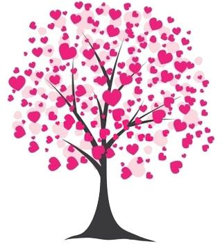 valentines clip art | Free Valentineu0026#39;s Day Clipart of a tree blooming with pink hearts.