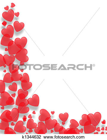 Valentines Day border Hearts - Valentines Day Borders Clip Art