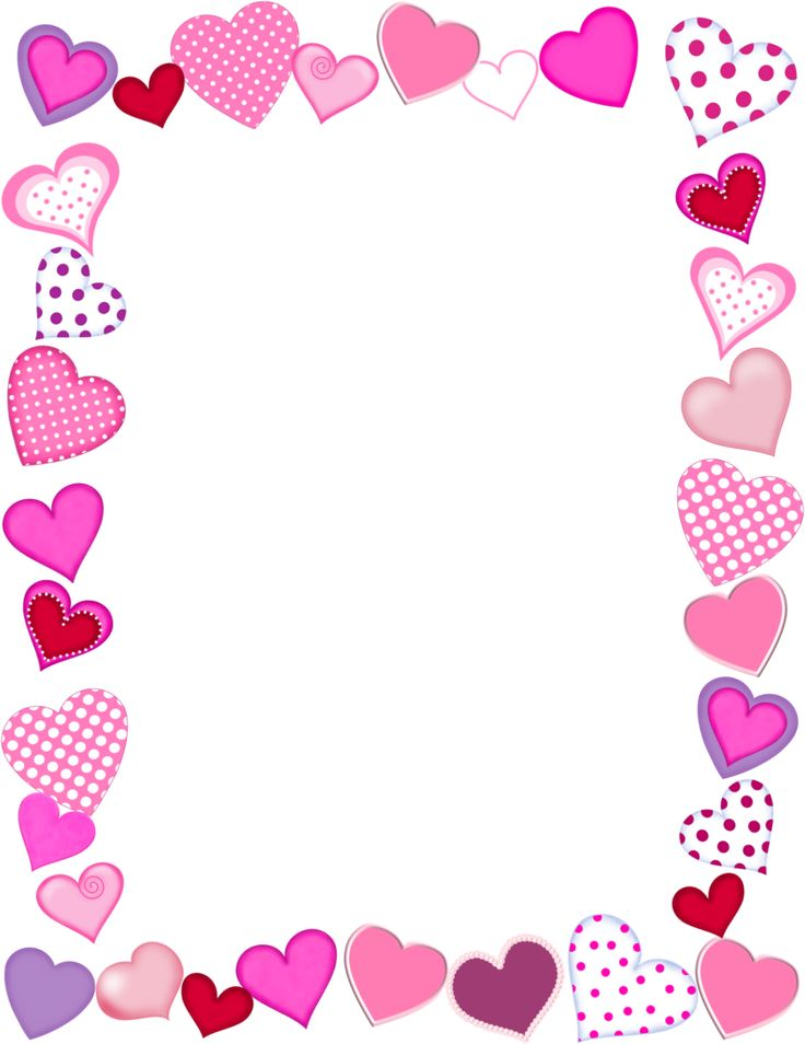 Valentines Day Clip Art .. And Border Frame Heart .