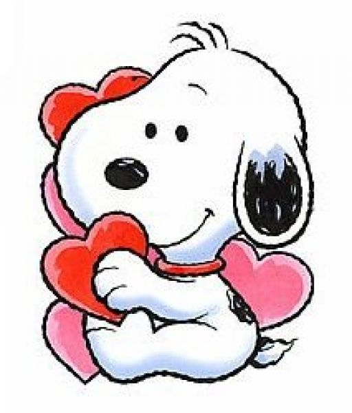 Valentines Day Snoopy Clipart .
