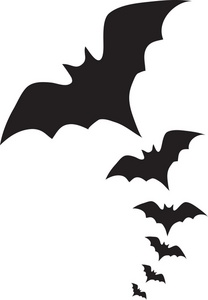Vampire Bats Clipart Image The Silhouettes Of Flying Bats
