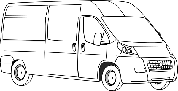 Van Line Art Transportation Car Van Van -Van Line Art Transportation Car Van Van Line Art Png Html-18