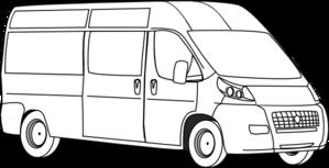 Van Outline Clip Art