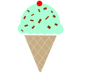 Vanilla Ice Cream With Strawberries On Top Clip Art