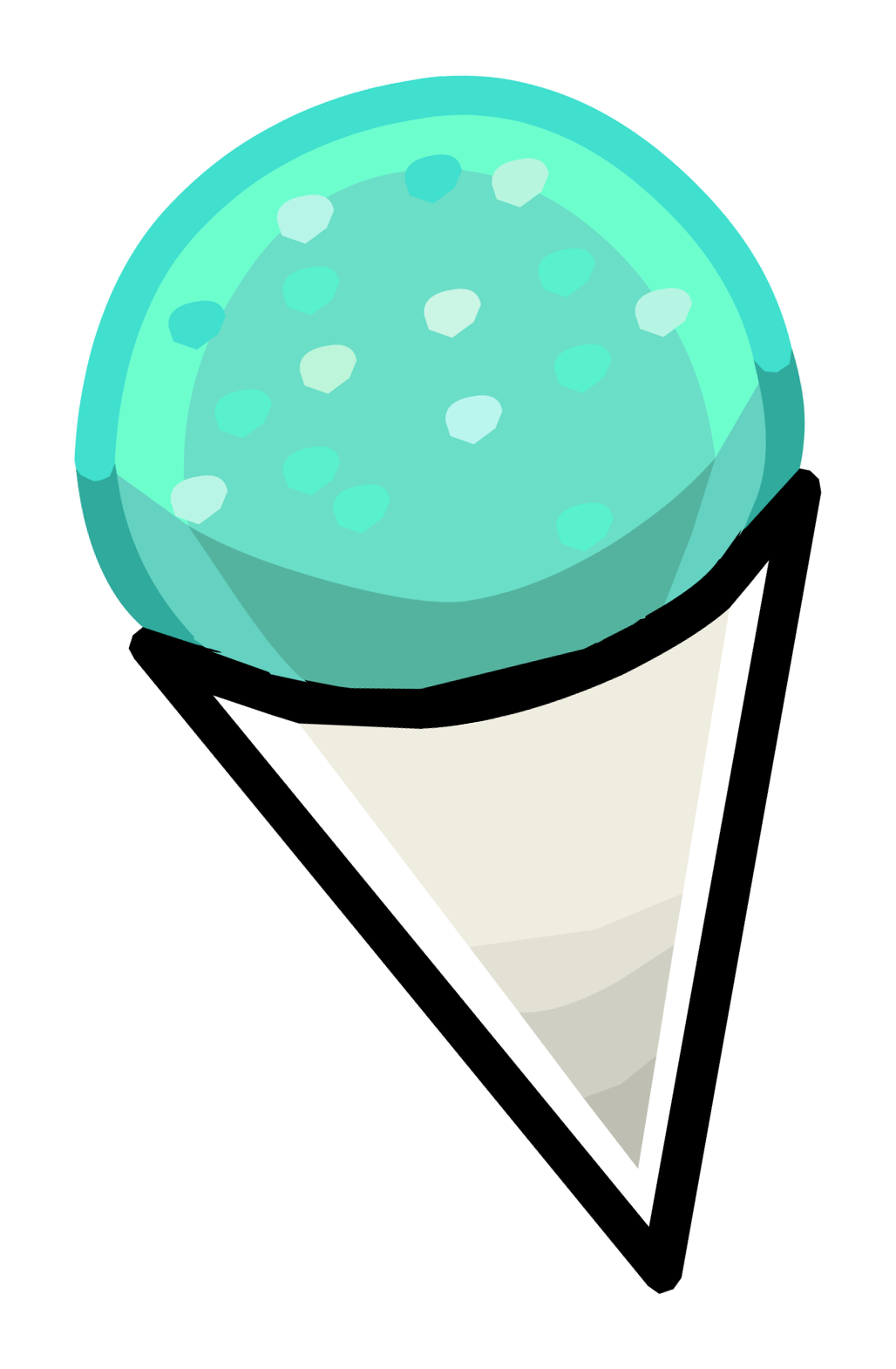Vanilla Snow Cone Clipart