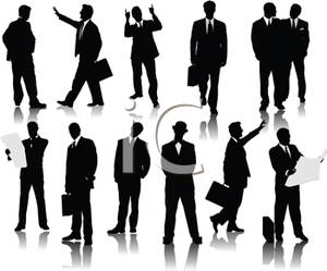 Variety Of Business Men Royalty Free Clipart Picture