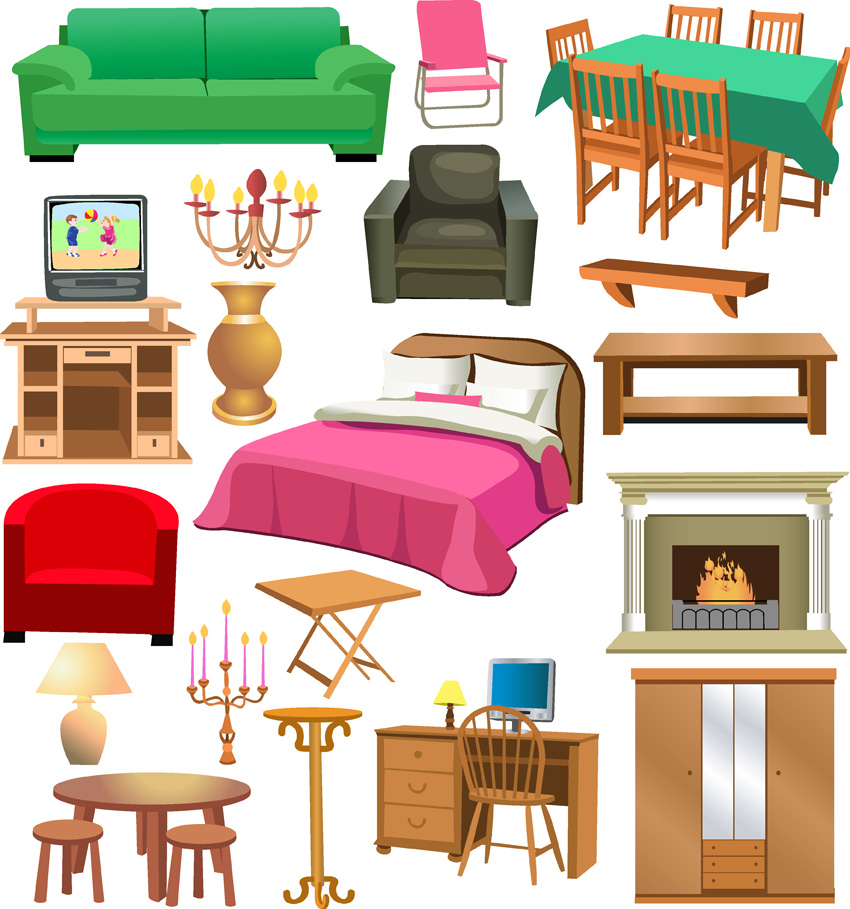 Variety Of Furniture Clip Art Free Vector 4vector