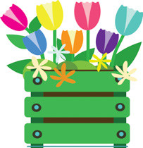 Variety Spring Clipart With F - Seasonal Clip Art