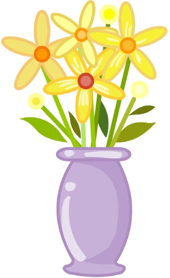 Vase Of Flowers Clip Art Clip Art Of A P-Vase Of Flowers Clip Art Clip Art Of A Purple Vase Holding Yellow-1