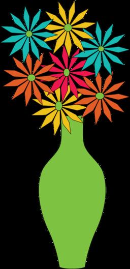 Vase Of Flowers Clipart .-Vase Of Flowers Clipart .-8