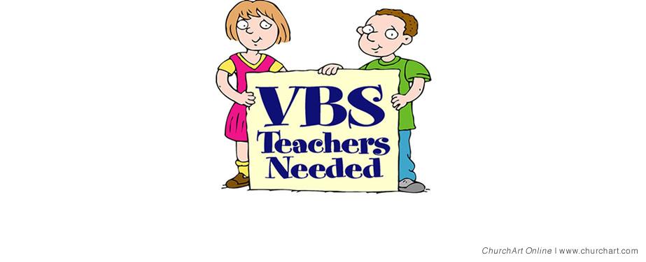 VBS teachers needed clipart