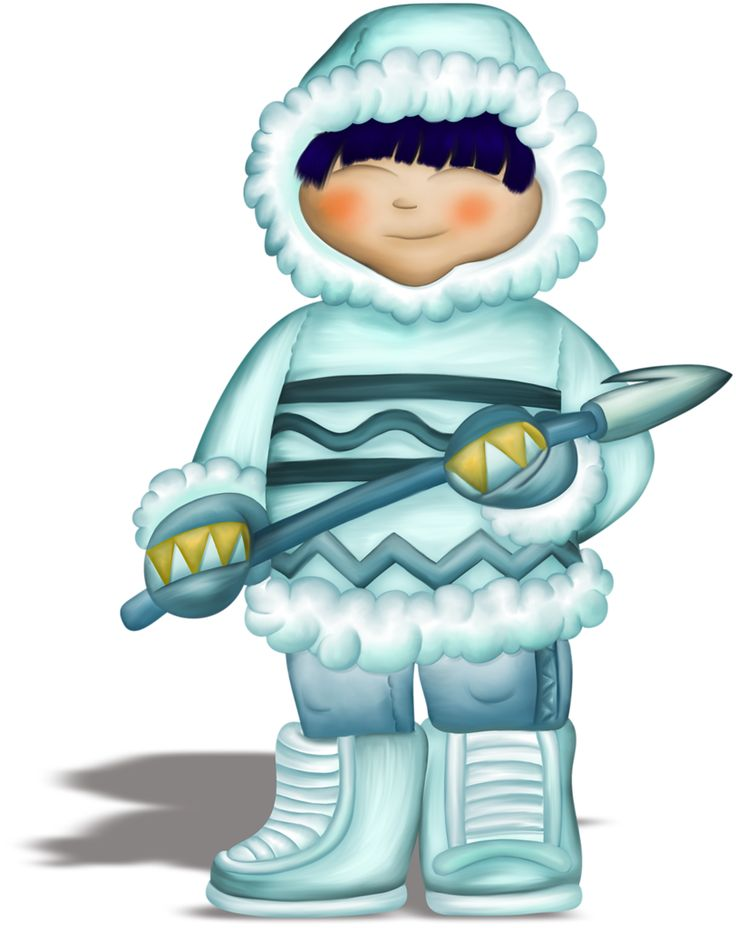 «VC_FunOnIce_Elu2026» на Яндекс.Фотках. WINTER LITTLE BOY CLIP ART. Siberia. eskimo