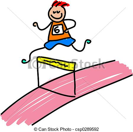 Ve Clipartby leonido1/1,845; athletic kid - little boy running a hurdles race - toddler... ...