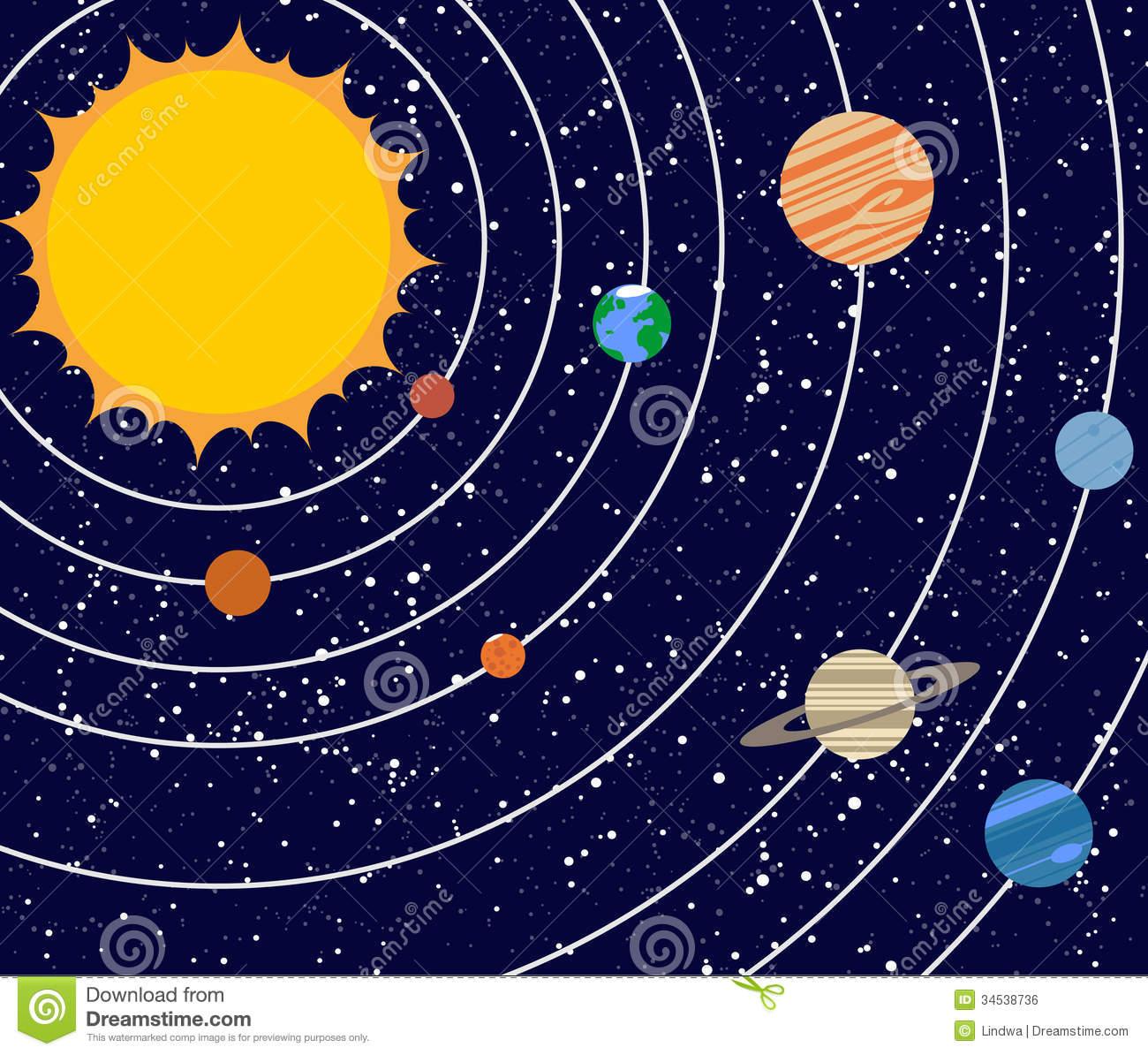 Vecotr Solar System Illustration-Vecotr solar system illustration-19