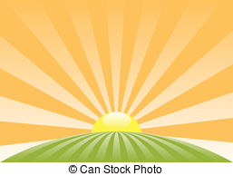 ... Vector Abstract Rural Landscape With-... vector abstract rural landscape with rising sun-16