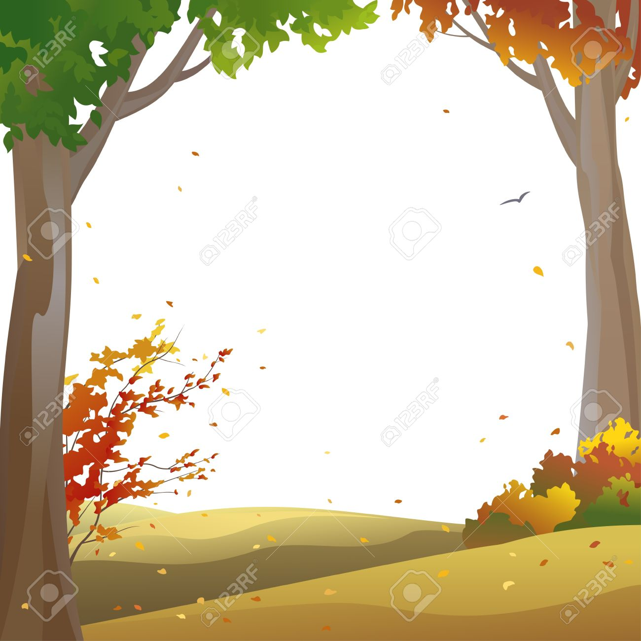 Vector background with autumn .-Vector background with autumn .-19