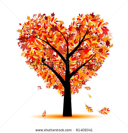 Vector Beautiful Autumn Tree Heart Shape-Vector Beautiful Autumn Tree Heart Shape For Your Design 61409341 Jpg-18
