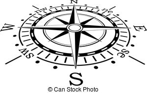 ... vector black compass - vector design of black compass