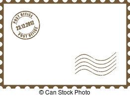 ... Vector blank postcard illustration