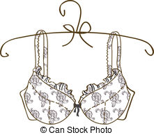 Vector bra on white background