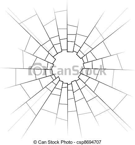 Vector - broken glass