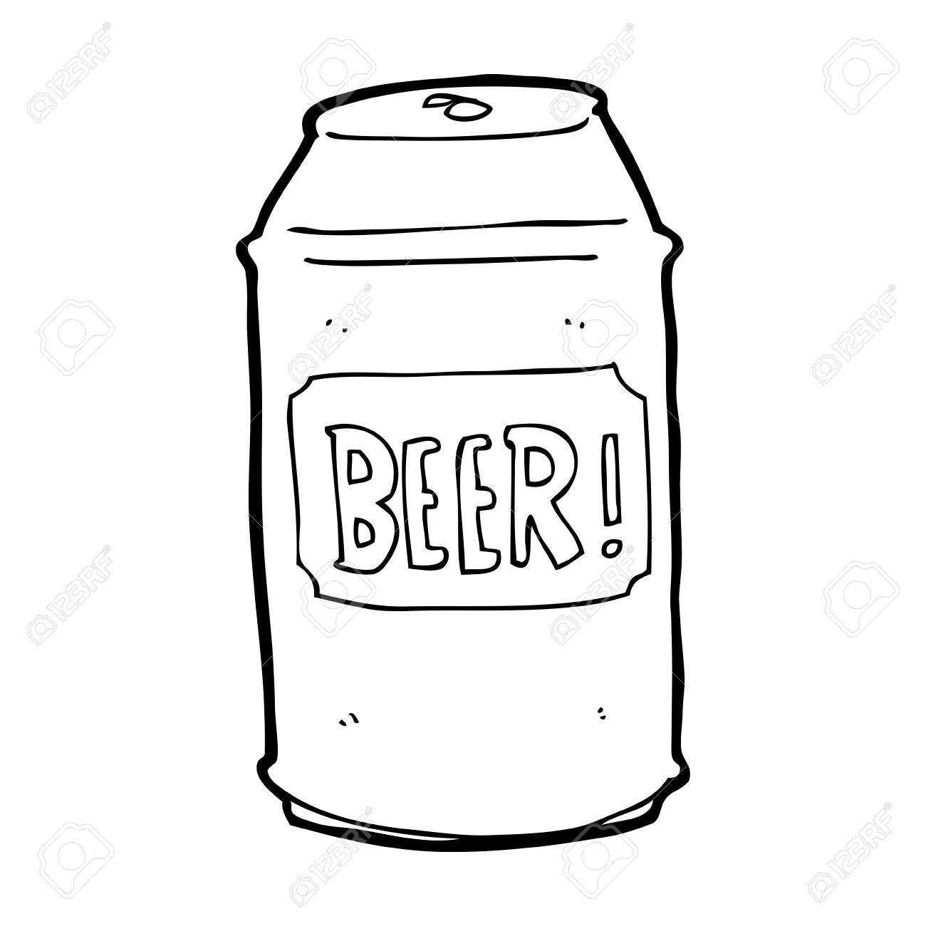 Vector - cartoon beer can