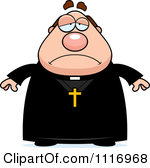 Vector Cartoon Depressed Priest Royalty -Vector Cartoon Depressed Priest Royalty Free Clipart Graphic-16