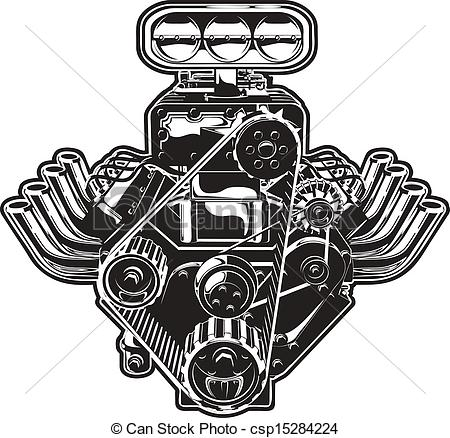... Vector Cartoon Turbo Engine - Detail-... Vector Cartoon Turbo Engine - Detailed Cartoon Turbo Engine.-14