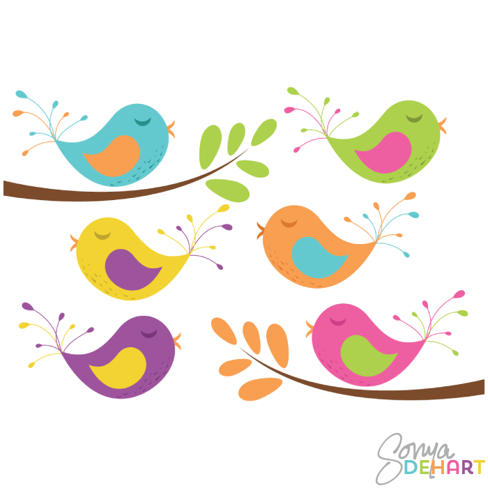 Vector Clip Art Birds And Branches-Vector Clip Art Birds And Branches-19