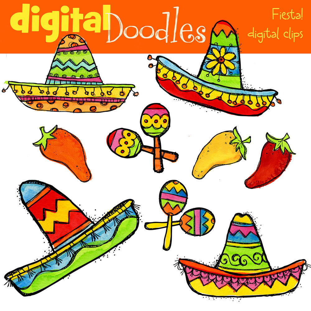 Vector Clip Art Mexican Fiesta Clipart Icons