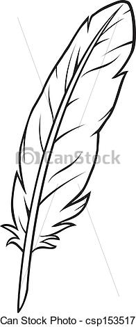 Vector Clip Art Of Feather .