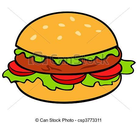 Vector Clip Artby Milla741/2,691; Hambur-Vector Clip Artby milla741/2,691; hamburger ingredients-16
