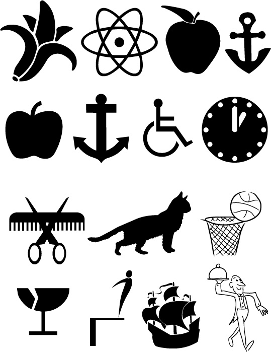 Vector Clipart Symbols Version 2 : Cherry Graphics, Vectorization
